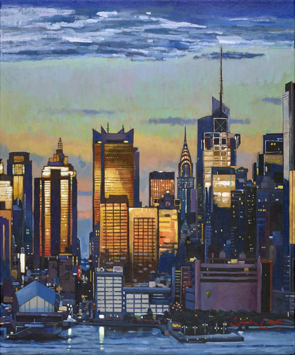 New York, from Newark III by stephen collett -  sized 20x24 inches. Available from Whitewall Galleries